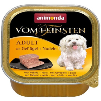 Пастет VOM FEINSTEN ADULT POULTRY AND PASTA за кучета над 12 м, 150 g