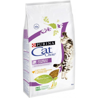 Суха храна CAT CHOW SPECIAL CARE HAIRBALL CONTROL космени топки за котки над 12 м, 15 kg