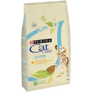 Суха храна CAT CHOW KITTEN за котета до 12 м, 15 kg