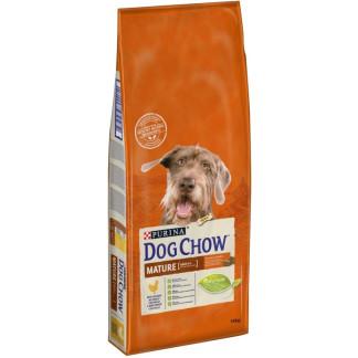 Суха храна DOG CHOW MATURE за кучета над 5 г. с пиле, 14 kg