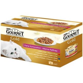 Gourmet Gold Двойно Удоволствие Мултипак 4х85г