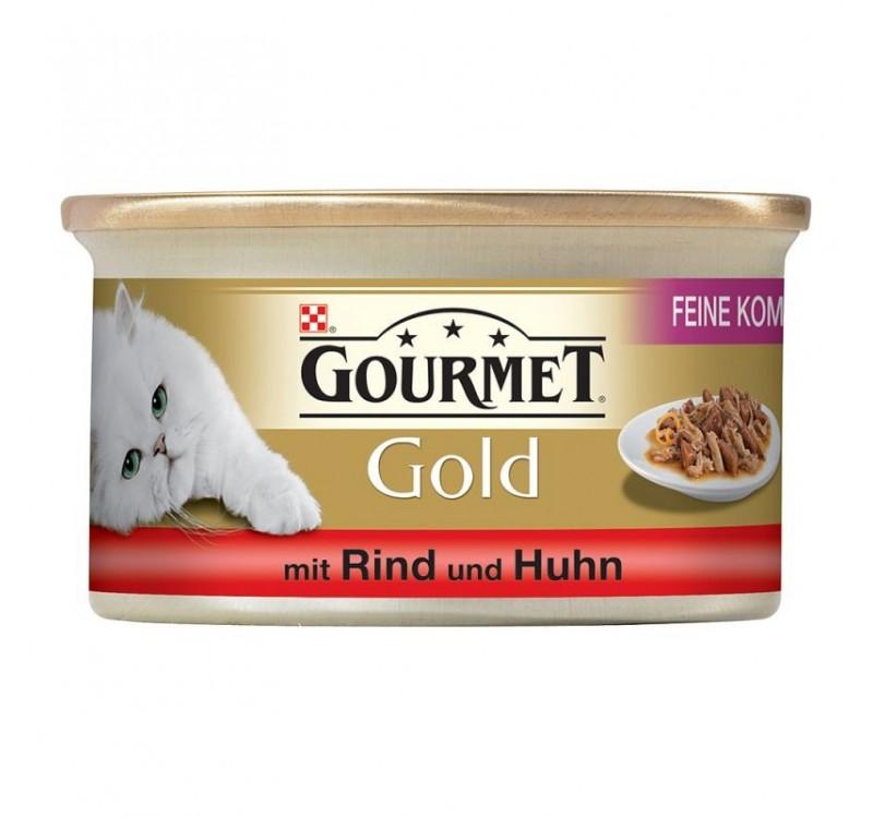 Gourmet Gold двойно удоволствие Говеждо и пиле 0.85gr