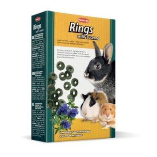 Допълваща храна за зайци и гризачи PADOVAN RINGS WITH LUCERNE люцерна, 150 g