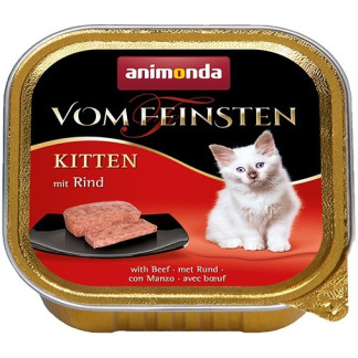 Пастет ANIMONDA VOM FEINSTEN KITTEN BEEF, котенца до 12 м, 100 g