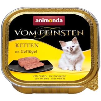 Пастет ANIMONDA VOM FEINSTEN KITTEN POULTRY, котенца до 12 м, 100 g