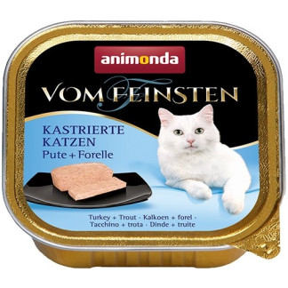 Пастет ANIMONDA VOM FEINSTEN CASTRATED TURKEY AND TROUT за кастрирани котки, 100 g