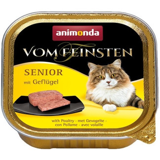 Пастет ANIMONDA VOM FEINSTEN SENIOR POULTRY за котки над 7 г, 100 g