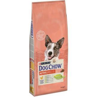 Суха храна DOG CHOW ADULT ACTIV за активни кучета над 12 м. с пиле, 14 kg