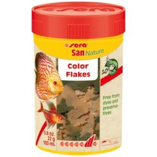Храна на люспи SERA SAN NATURE за подсилване на цветове, 100 ml