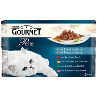 Gourmet Perle Мултиопаковка Мини Филенца в Сос 4x85g