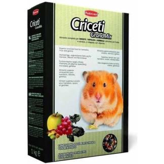"""Меню за хамстери и мишки с плодове и семена Padovan """"CRICETI""""-1 kg"""