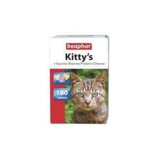 Витамини за котки BEAPHAR KITTY'S MIX TAURINE BIOTINE PROTEIN CHEESE, 180 бр
