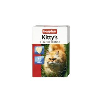 Витамини за котки BEAPHAR KITTY'S TAURINE BIOTINE, 75 бр