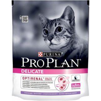 Суха храна PRO PLAN DELICATE OPTIRENAL ADULT за котки над 1 г. с пуйка, 400 g