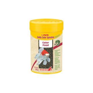 Храна на гранули SERA GOLDY COLOR SPIRULINA NATURE за златни рибки, 100 ml