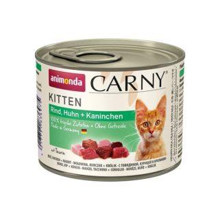 Консерва ANIMONDA CARNY KITTEN BEEF, CHICKEN AND RABBIT за котенца до 12 м, 200 g
