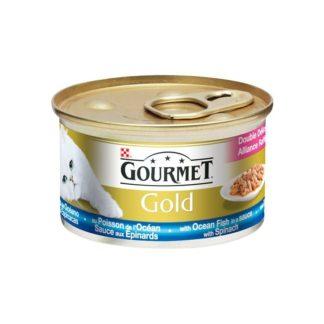 Gourmet Gold двойно удоволствие риба и спанак 85 гр