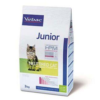Суха храна VIRBAC VETERINARY HPM JUNIOR NEUTERED CAT за кастрирани котки до 12 м