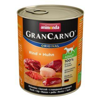Консерва GRANCARNO ADULT BEEF AND CHICKEN за кучета над 12 м. с говеждо и пиле, 800 g