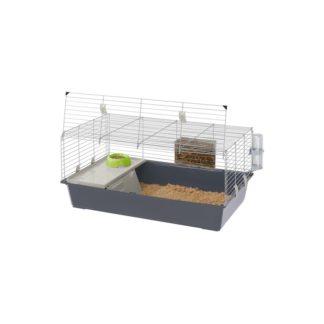 Оборудвана клетка за зайци FERPLAST CAGE RABBIT 100, 95х57х46 см