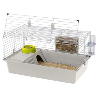 Оборудвана клетка за гризачи Ferplast cage Cavie 80 grey, 77х48х42 см