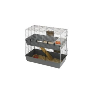 Оборудвана клетка за зайци FERPLAST CAGE RABBIT 100 DOUBLE BLACK, 99х51,5х97,5 см
