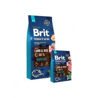 Brit Premium Lamb & Rice пълноценна храна за кучета с алергични или храносмилателни проблеми 15 кг