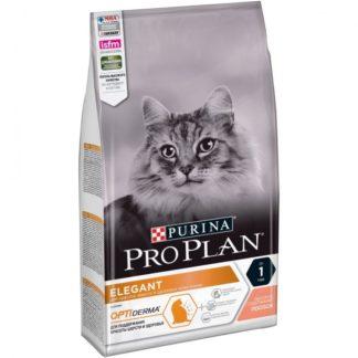 Суха храна PRO PLAN ELEGANT ADULT за котки над 1 г. със сьомга, 1.5 kg