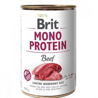 Консерва BRIT MONO PROTEIN BEEF за кучета над 12 м, монопротеин говеждо, 6 х 400 g