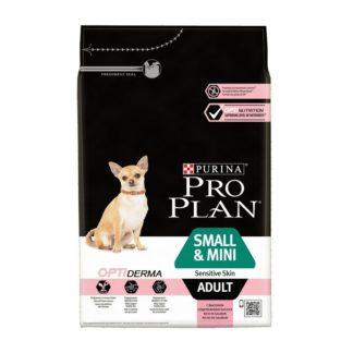 Суха храна PRO PLAN ADULT SMALL & MINI SENSITIVE SKIN, дребни породи с чувствителна кожа, 3 kg