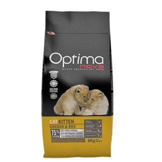 Суха храна OPTIMA NOVA KITTEN CHICKEN & RICE за котенца до 12 м, пиле и ориз