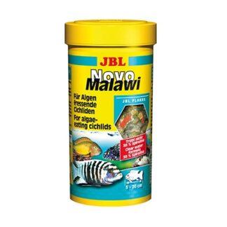 Храна на люспи JBL NOVOMALAWI за растителноядни африкански цихлиди