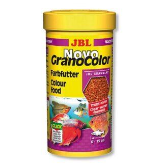 Храна на гранули JBL NOVOGRANOCOLOR за подсилване на цветовете, 250 ml