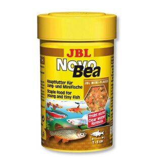 Храна на люспи JBL NOVOBEA за растителноядни живораждащи рибки, 100 ml