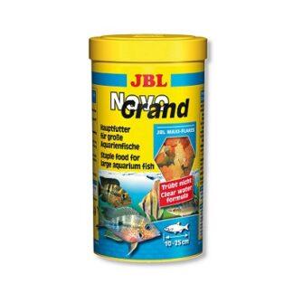 Основна храна на люспи JBL NOVOGRAND за големи декоративни рибки, 1000 ml