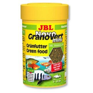 Храна на гранули JBL NOVOGRANOVERT MINI за малки растителноядни рибки, 100 ml