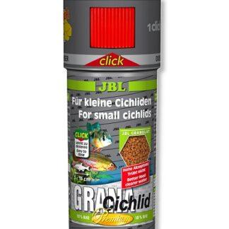 Премиум храна на гранули JBL GRANACICHLID CLICK за месоядни цихлиди (с дозатор)