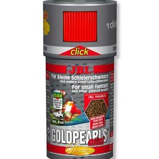 Премиум храна на гранули JBL GOLDPEARLS CLICK за златни рибки (с дозатор), 250 ml