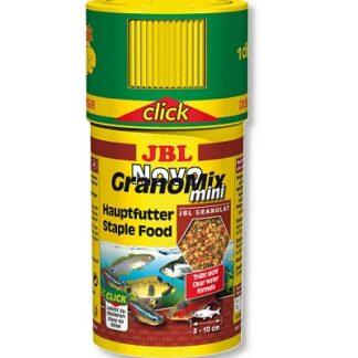 Храна на гранули JBL NOVOGRANOMIX MINI CLICK за сладководни малки риби (с дозатор), 100 ml