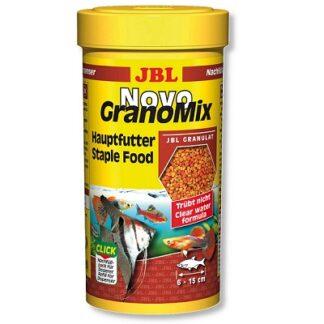 Храна на гранули JBL NOVOGRANOMIX за сладководни риби, 250 ml
