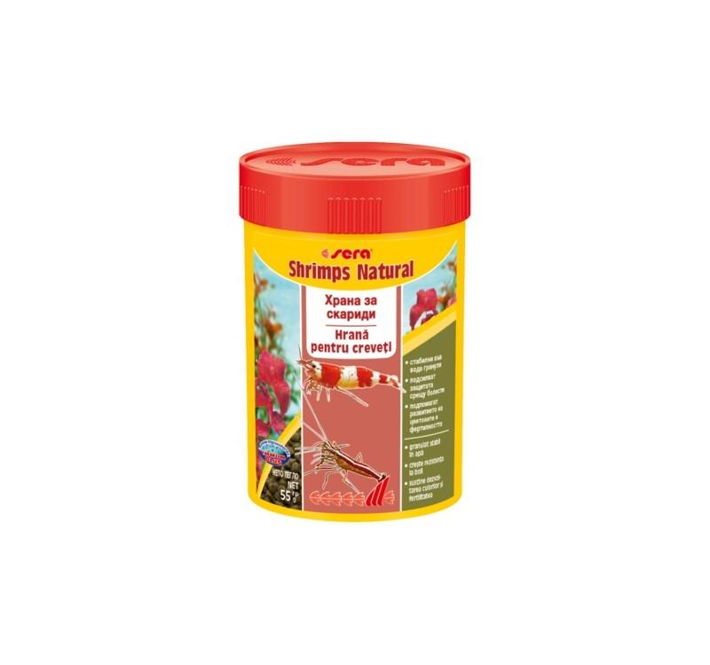 Храна на гранули SERA SHRIMPS NATURAL за скариди, 100 ml