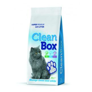 CleanBox - постелка за котешка тоалетна от бял бентонит - натурал 5 кг
