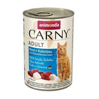 Консерва ANIMONDA CARNY ADULT BEEF AND CODFISH WITH PARSLEY ROOTS котки над 1 год, 400 g
