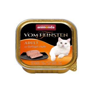 Пастет ANIMONDA VOM FEINSTEN ADULT POULTRY AND VEAL, котки над 1 г, 100 g