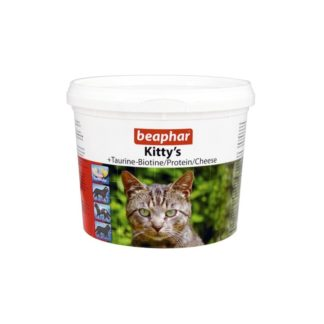 Витамини за котки BEAPHAR KITTY'S MIX TAURINE BIOTINE PROTEIN CHEESE, 750 бр