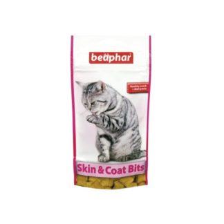 Лакомство за котки с малц BEAPHAR SKIN & COAT BITS, 35 g