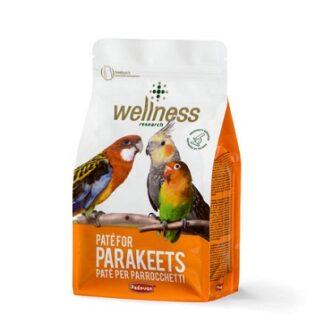 Мека яйчна храна за средни папагали PADOVAN WELLNESS PATE FOR PARAKEETS, 600 g