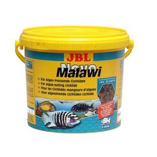 Храна на люспи JBL NOVOMALAWI за растителноядни африкански цихлиди, 5500 ml