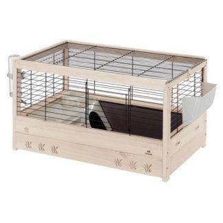 Оборудвана клетка за зайци и морски свинчета FERPLAST CAGE ARENA 80 BLACK, 82х52х45,5 см