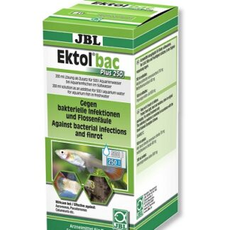 Препарат срещу бактериални инфекции, причинени от Aeromonas, Pseudomonas, Columnaris и др. JBL EKTOL BAC PLUS 250, 200 ml